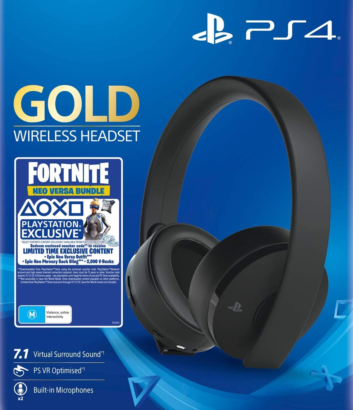 AURICULARES GAMING HEADSET GOLD WIRELESS PS4 1